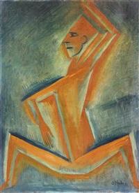 cubist figure by otakar (othon) coubine