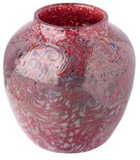 monart paisley pattern glass vase by john ltd moncrieff