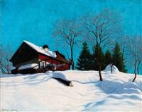 winter lights (house in nagybánya) by samu börtsök