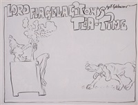 lord flagelagiton's tea-time by f. goldowner (2 works) by fritz aigner
