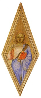 cristo benedicente by master of san lucchese