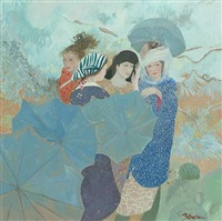 girls and umbrellas by brenda lenaghan