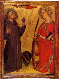 saint francis receiving the stigmata and saint catherine of siena by giovanni del biondo