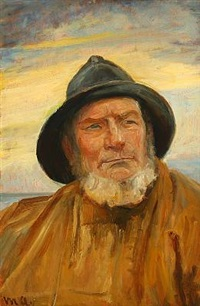 portrait of the fisherman ole svendsen from skagen by michael peter ancher