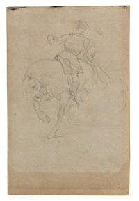 saint martin à cheval, d'après antoon van dyck by théodore géricault
