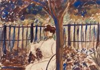 femme dans un jardin by aristide maillol