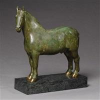 percheron stallion: rhum by herbert haseltine