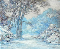 winter scene by alfred john billinghurst