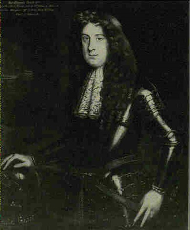 portrait said to be sir thomas scott standing three quarter length wearing armour his right hand length by john hayls