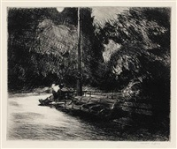 night in the park by edward hopper