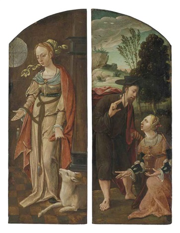saint agnes noli mi tangere 2 works by flemish school antwerp 16