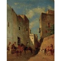 moorish street scene by eugène fromentin