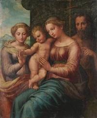 the mystic marriage of saint catherine by innocenzo di pietro (da imola) francucci