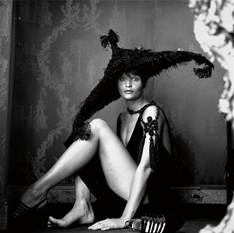 helena christensen in haute couture by valentino paris by michel comte