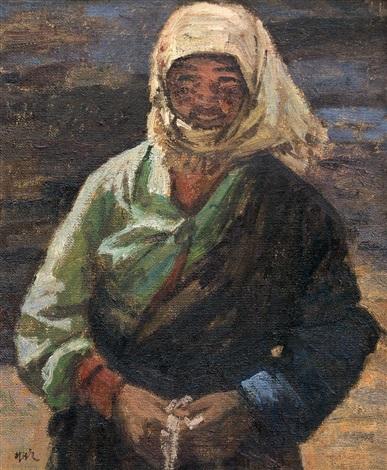 tibetan girl by ai zhongxin