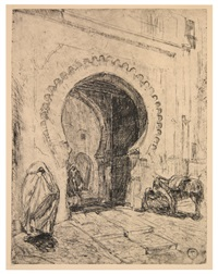 gateway in tangier by henry ossawa tanner