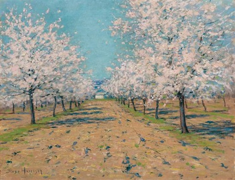 apple blossoms by birge harrison