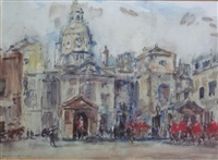 changing of the horse guards, whitehall by rowland henry hill