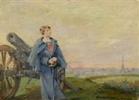 autoportrait - a l'auteur de paris sous les armes by louise abbéma