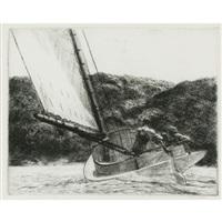 the cat boat by edward hopper
