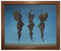 drei große larven iii in blau by frantisek muzika