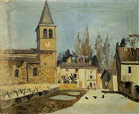 vue de village de fontaine saint martin by jean couty