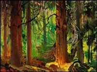 forest interior by george franklin arbuckle
