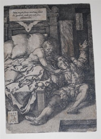 christ surrounded by children the severe father horation cocles defending the bridge two men with torches 4 works by heinrich aldegrever