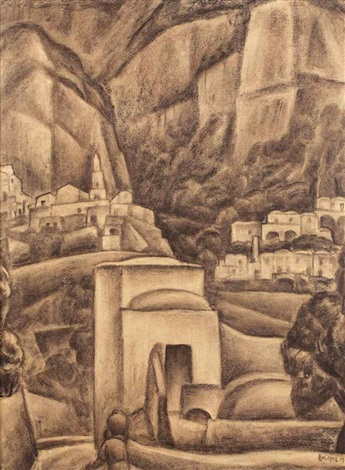 a view of positano italy by leo gestel