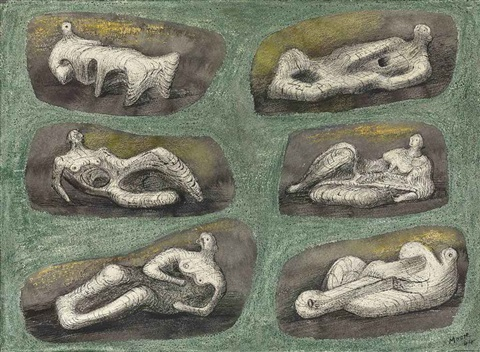 reclining figures ideas for stone sculpture by henry moore