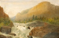 torrent, yosemite (+ bridal veil falls; pair) by james madison alden