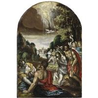 battesimo di cristo by paolo farinati
