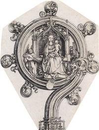 a bishop's crozier by martin schongauer