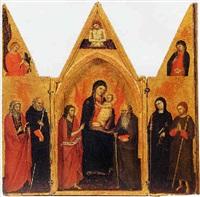 madonna col bambino tra san giovanni battista e sant'antonio abate, imago pietatis by pisan de taddeo di bartolo