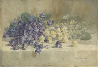 pansies on a ledge by william hubacek