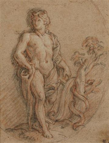 apollon et le serpent python by charles de la fosse