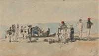 scène animée en bord de mer by eugène boudin