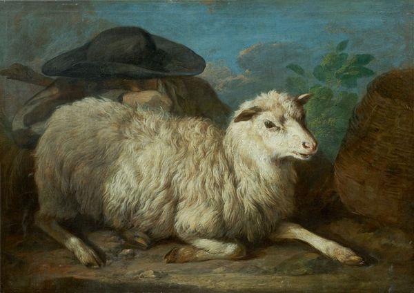 une brebis veillée par un berger by francesco londonio