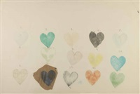 heart drawing by jim dine