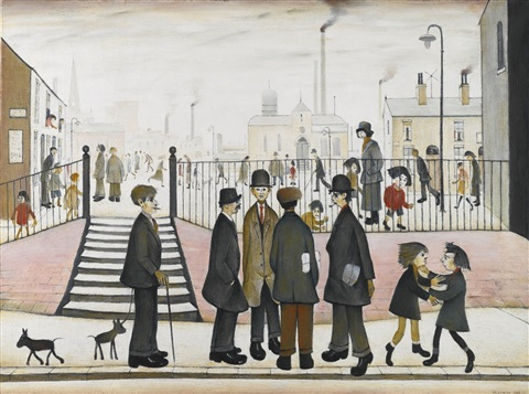 a town square by laurence stephen lowry