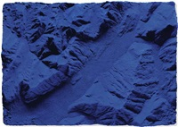 relief planétaire (rp 9) by yves klein