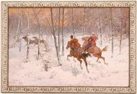 the reindeer hunt by rudolf feodorovich frentz