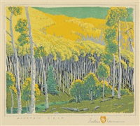 mountain gold by gustave baumann