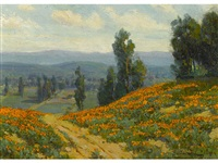 poppies near pasadena, california by benjamin chambers brown