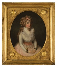 portrait of mrs. james wortham (+ another; pair) by francis alleyne
