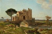 paysage en italie by jules (joseph augustin) laurens