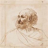 tête d'homme barbu by guercino