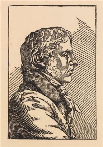 selbstbildnis im profil nach rechts engraved by christian friedrich by caspar david friedrich