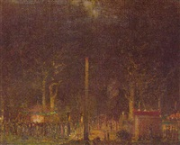 hampstead fair - night by louis augustus sargent