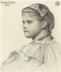 portrait of miss marguerite ince, aged six by emma sandys